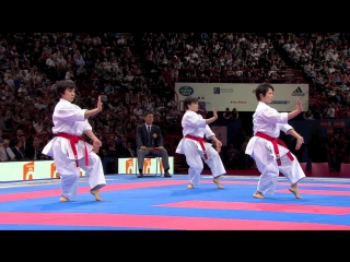 (1_2) Karate Japan vs Italy. Final Female Team Kata. WKF World Karate Championsh