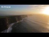 Видеосъемка дроном пейзажей Ирландии.