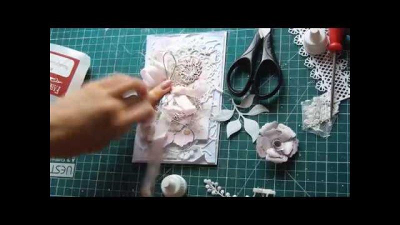 Мечты сбываются - МК 2 в 1! Открытка и цветок ручной работы
