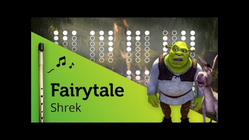 Fairytale (Shrek) on Tin Whistle D tabs tutorial