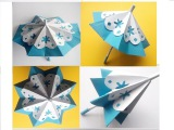 Как из цветной бумаги, сделать открывающийся зонтик. Поделки своими руками