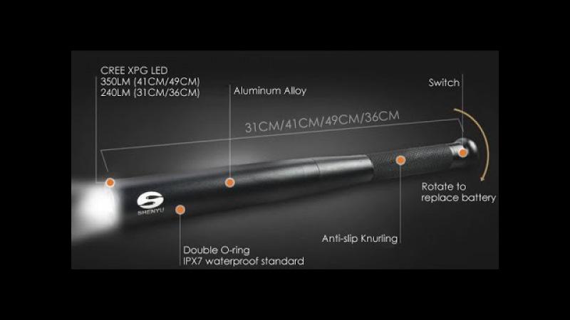 Фонарь-бита SHENYU 350Lm Cree XPG AA 49CM. Обзор и тест