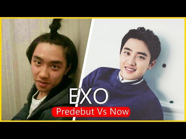 EXO - Predebut Vs. Now : (엑소) Before and After