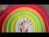 5 Rainbow wet balloons Learn colours Finger Family collection Balloons for kids - Balloon song