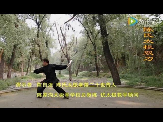 陳氏太極双刀(多角度示範)総教練 陳自強演示