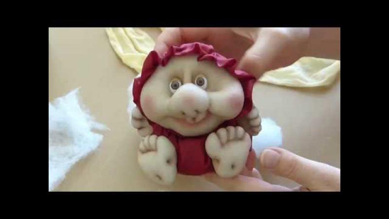 Кукла неваляшка из колготок. Кукла из капрона своими руками. Doll from stocking, Roly-poly doll.