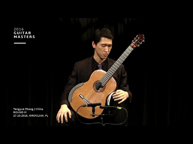 TY Tengyue Zhang plays Chaconne from BWV 1004 by J.S.Bach Guitar Masters 2016