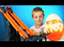 Hot Wheels Cars Play-Doh Surprise Egg with Disney Cars & Hot Wheels Track Toy Review by KID CITY