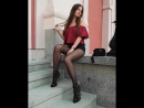 Ariadna Majewska Legs in Pantyhose and Black Shorts