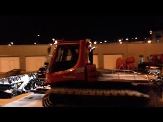 ночь 9.04.2017 подготовка лыжни. утц кавголово