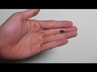 Трюк с изменением рисунка на пальце