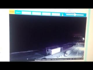 Видео с веб камеры пляж Огонек(Адлер),вспышка в Ту 154