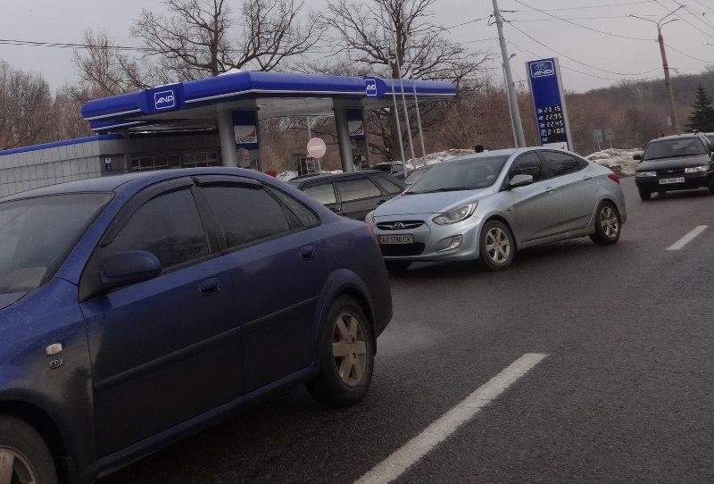 По улице Сумской образовалась огромная пробка (ФОТО)