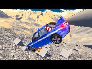 Самые долгие полеты в пропасть BeamNG Drive Бесконечный обрыв Затяжное падение Мульт ...