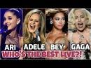 Ariana Grande, Adele, Beyonce, Lady Gaga Vocal Battle : Studio vs Live
