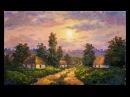 Вечер на хуторе, как писать маслом. Мастер-класс Татьяна Зубова. Sunset painting