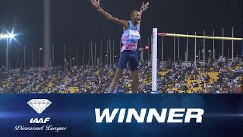 Mutaz Barshim wins the Men's High Jump in front of the home crowd - IAAF Diamond League Doha 2017