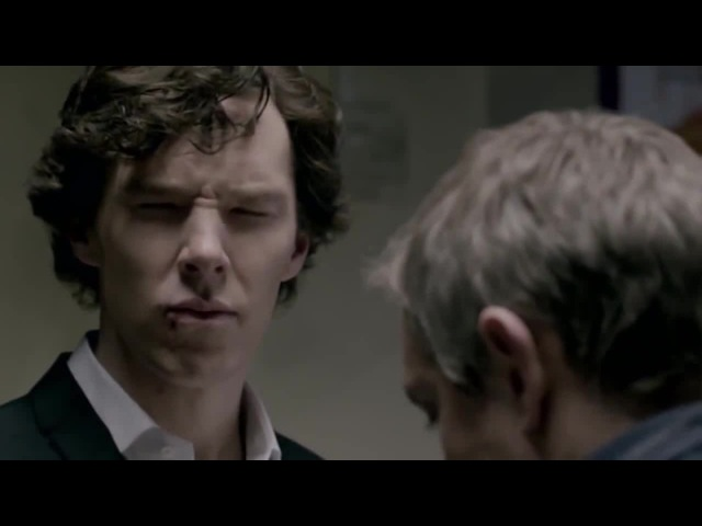 Sherlock on the floor · coub, коуб