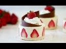 Мороженое Клубничное Порционные Мини Тортики 🍓🍓🍓 Украшение из шоколада