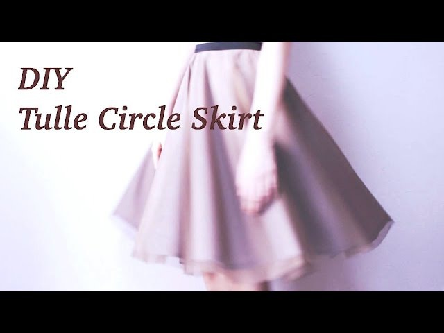 DIY Tulle Circle Skirt / Sewing Tutorialㅣmadebyaya