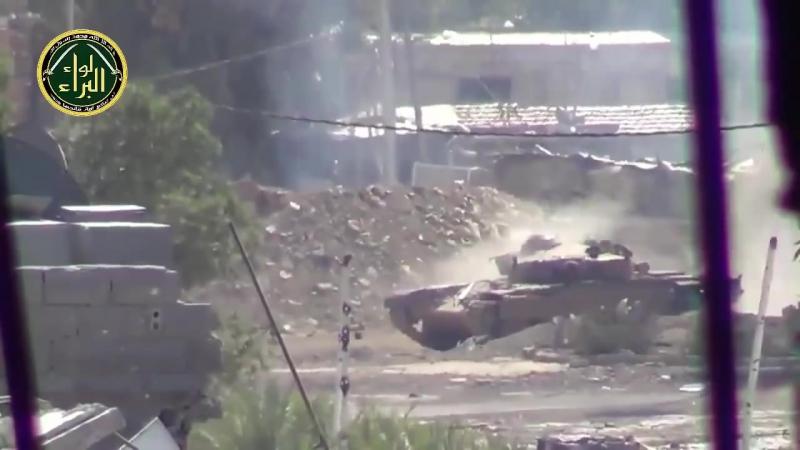 Пламенный привет осколочно-фугасным снарядом от Т-72!