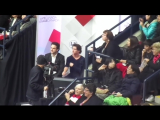 SCI 16 Post-Free Skate Kiss and Cry Tessa and Scott (Day 3)