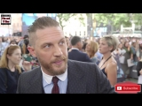 Tom Hardy cant stop smiling - or talking - at the Dunkirk premiere!