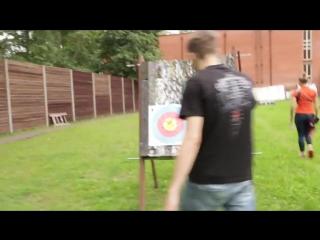 Пристрелка блочного арбалета Интерлопер Стикс 30 метров