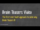 Brain Teasers - Secrets to solve ANY brain teasers