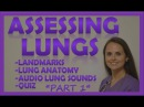 Lung Auscultation Landmarks, Sounds, Placement Nursing | Assessing Lungs Part 1