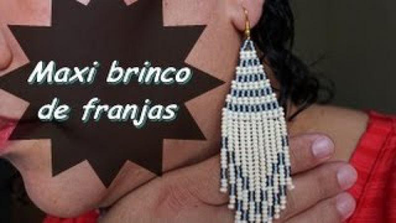 NM Bijoux - Maxi Brinco de franjas - passo a passo