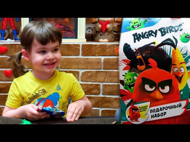 Распаковка Angry Birds SweetBox Подарочный набор Свит бокс из Магазина Пятерочка за 199 ру ...