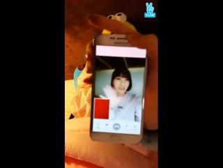 · Other · 161119 · Чеён и Ебин из DIA позвонили Бинни во время своей трансляции в