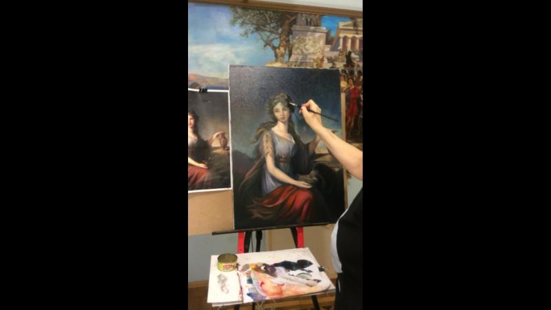 Пишем картину Виже Лебрен