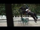 Simon Delestre riding Mario Luraschi's horse in Paris for Hermès