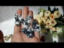 серебряная и стальная бабочки, средние блестки, @v.olli_accessories