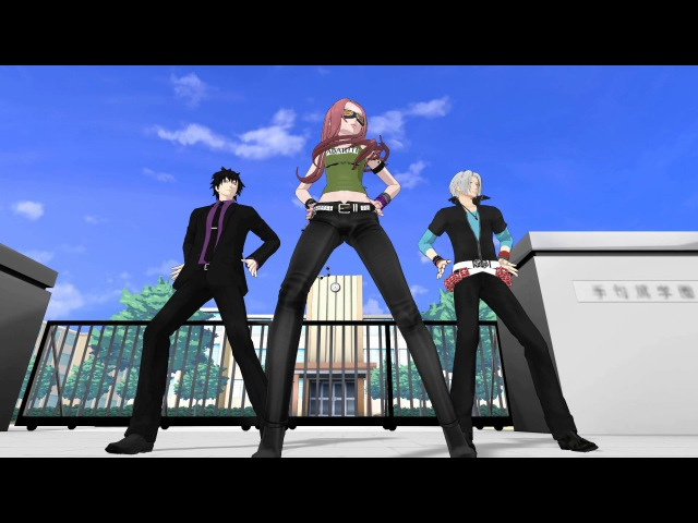 【MMD REBORN】BURNING 【BianchiHibariGokudera】