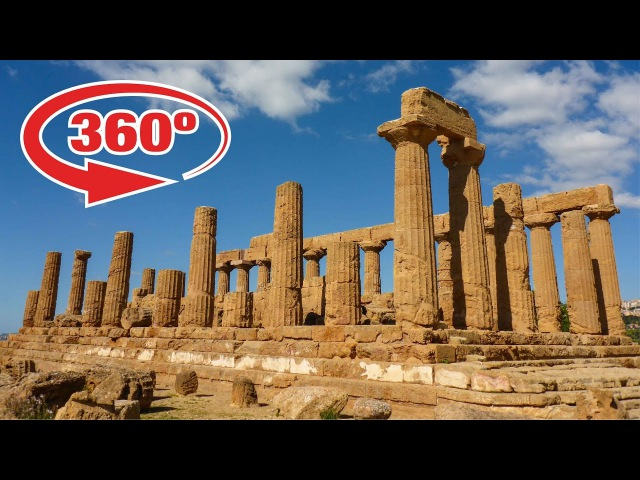 SICILY in 360º • VALLEY OF THE TEMPLES near Agrigento in ITALY