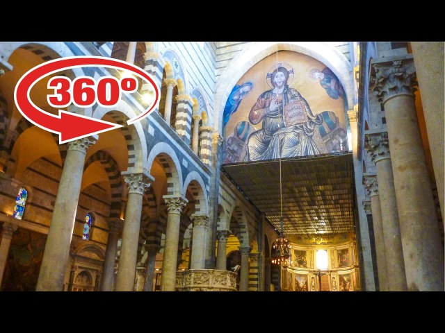 ITALY in 360º • Inside the PISA CATHEDRAL (Cattedrale di Pisa) • 360 VR travel video