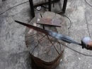 Forging a knightly sword from a semi truck leaf spring part 2.