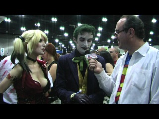 Clark Kent Interviews Arkham city's Harley Quinn the Joker