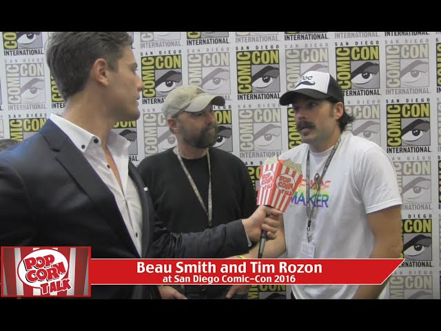 Beau Smith and Tim Rozon (Wynonna Earp) at San Diego Comic-Con 2016