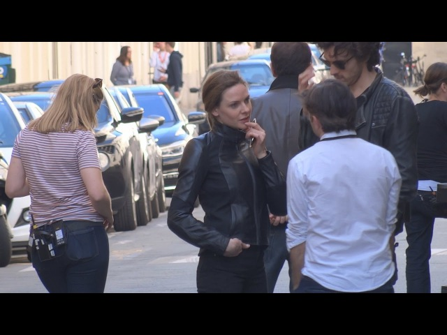 REBECCA FERGUSON W/ HER PARTNER JOEL ❸ ON THE MOVIE SET OF MISSION IMPOSSIBLE 6 IN PARIS 2017.05.10