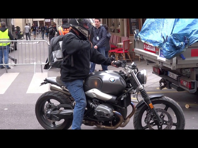 MISSION IMPOSSIBLE 6 「B.T.S. ❽」 CLOSER VIEW OF A BMW R1200 NineT SCRAMBLER USED IN MI6 2017.05.11