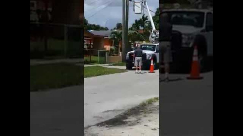 Better Quality Video Hialeah man shooting tires of ATT and FPL trucks