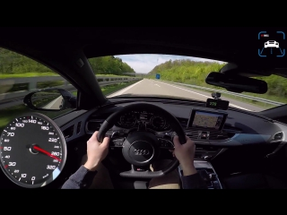 750hp audi rs6 avant autobahn pov pp performance