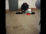 Необычный музыкант в Московском метро