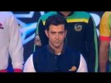 Ритик Рошан исполняет национальный гимн Индии, Хайдарабад , финал Pro Kabaddi 31.08.2016 г.