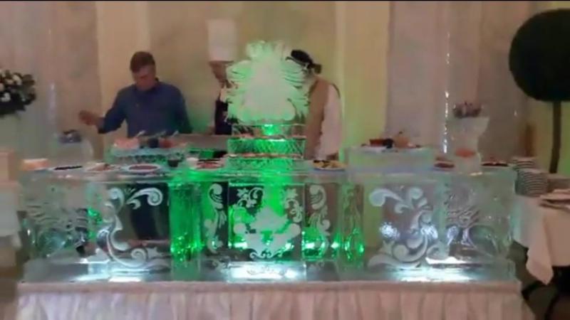 Ледяной бар с фуршетной линией в Летнем дворце от MariaCrystalIce 7-905-204-77-53