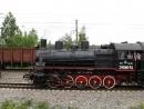Паровоз Эу699-74 в Щербинке на День железнодорожника-2008. Съемка из окна электросекции Ср3. MVI_0993